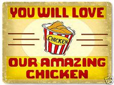 KENTUCKY FRIED CHICKEN bucket METAL SIGN restaurant KFC vintage style DECOR 241