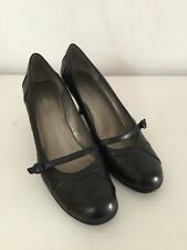 WORN TWICE NINE WEST BLACK 100% LEATHER MARY JANES VINTAGE STYLE SHOES 7 40