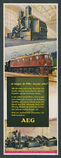 orig. Farb-Reklame AEG Elektrotechnik Lok E 19 01 Reichsadler Reichbahn Zug 1944