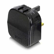 121AV 2 Pin Euro Plug to 3 Pin UK Mains Adapter (Open Top Type)- Ideal for GHD's