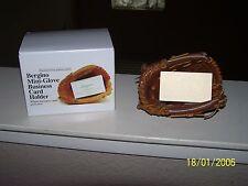 "Bergino Mini Glove Business Card Holder Handmade Genuine Leather NIB 5"" x 4"""