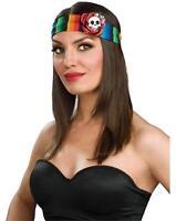 Serape Headband Skull Skeleton Day Dead Fancy Dress Halloween Costume Accessory