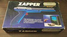 Nintendo NES Zapper Light Gun COMPLETE IN BOX CIB Working Nice Shape Gray Grey