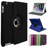 "Leather 360 Rotating Smart Case Cover Apple iPad 2 Air Air2 9.7"" Pro9.7 Pro10.5"