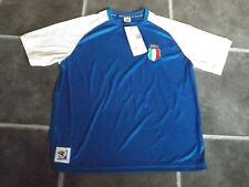 """Bnwt L BLU BIANCO ITALIA 2010 FIFA WORLD CUP ITALIA CALCIO MAGLIETTA circonferenza petto 42 """""""