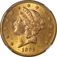 1895-S Liberty Gold $20 NGC MS62 Great Eye Appeal Strong Strike