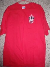 NEW never worn or washed Eddie Trotta motorcycle autographed red t-shirt XL