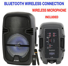 New listing Boytone 8 Inch Bluethooth Pa Speaker System, Battery Powered Rechargeable Karaok