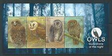AUSTRALIA 2016 OWLS MINIATURE SHEET FINE USED