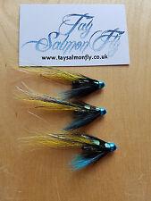 "3x Blacko's Dee Special 3/4"" Conehead Tube Salmon Fishing Flies"