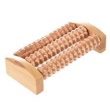 J1S9 Wooden Foot Roller Wood Care Massage Reflexology Relax Relief Massager Spa