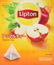 Lipton Apple Flavoured 12 Pyramid Tea bags from Japan  F/S