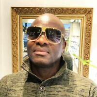Designer Oversized Square Flat Top Metal Bar Retro Frame Mens Fashion Sunglasses