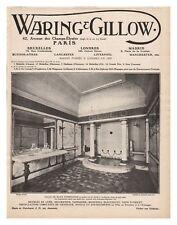 PUBLICITE MEUBLES WARING GILLOW salle de bain pompéienne 1913