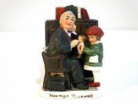 """Norman Rockwell """"Doctor and Child"""" Ceramic Figurine NR-212 Made in Japan 1979"""