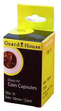 Guardhouse Penny/Cent 19mm Direct Fit Coin Capsules, 10 pack