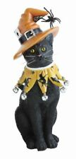 Black Cat with Witch Hat Figurine Halloween Mary Lake Thompson New