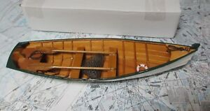 """Wood ROW BOAT Skif Dory CANOE model rowboat skiff nautical decoration ship 14.5"""""""