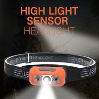 USB Waterproof Rechargeable LED Headlamp Headlight Head Lamp Torch Flashlight