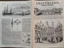 L' ILLUSTRATION 1852 N 481 DECORATION DE LA SALLE DE BAL A L' ECOLE MILITAIRE