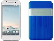 Boost Mobile HTC One A9 with Powerocks Cirrus Power Bank Blue