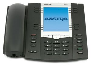 AASTRA 6737i MITEL MEN WOMEN HOME OFFICE FINE USED CHARCOAL BLACK BUSINESS PHONE
