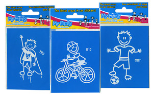 My Family Car Stickers - Young Boys - Boys - Older Boys - over 20 designs