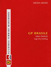 Scuderia Ferrari F1 Media Book - Brazilian Grand Prix 2004 Driver Stats & Bios