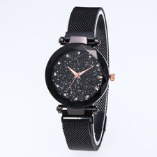 Luxury Women Starry Sky Watch Quartz Stainless Buckle Watches Christmas Gifts