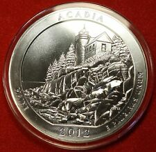 2012 ATB ACADIA NATL PARK DESIGN .999% 5 OZ SILVER ROUND BULLION COLLECTOR COIN