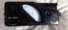 Vintage Megger tester Jnd 500v volt hand crank high voltage generator Bakelite ?