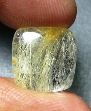 7.35 CTS NATURAL GOLDEN RUTILE CABOCHON CUSHION SHAPE GEMSTONE A 3445