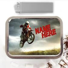 Dirt Bike Motocross 2oz Tobacco Tin Baccy Storage Pouch Personalised Gift SH062