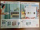 1957 Sears Air Conditioner Ad 1957 RCA Whirlpool Refrigerator Ad photo