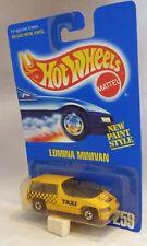 Hotwheels 259 Ruedas De Pared Negro Lumina monovolumen taxi Tarjeta Azul