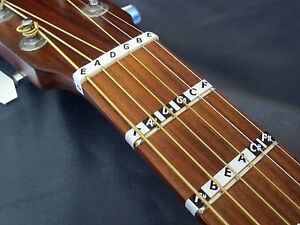 Guitar FRETBOARD MUSIC NOTE STICKERS Fret Map Label Decals + Online Lesson Guide