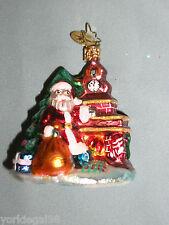 Radko Little Gem Christmas Eve Scene Ornament Pre - Owned No Tag, No Box