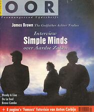 MAGAZINE OOR 1989 nr. 08 - ANTON CORBIJN / SIMPLE MINDS / JAMES BROWN/DE LA SOUL