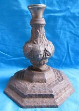 Vintage Antique Hand Crafted Indo Persian Iron Candle Holder With Figurine