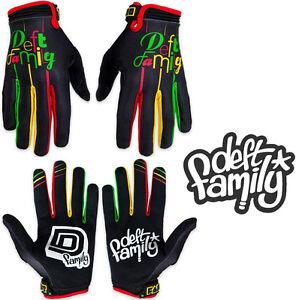 Deft Family Motocross MX Gloves Catalyst 2 Lucid Rasta All Sizes bmx mtb bike