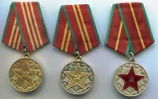 USSR Soviet Union Russian Medals Irreproachable Service in MVD Fire Department