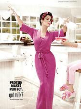 SALMA HAYAK in pink robe Got Milk? - 2013 magazine print ad