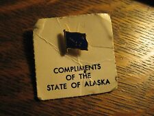 State Of Alaska USA Souvenir Flag Vintage American Blue Gold Lapel Hat Pin