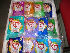 ORIGINAL McDonalds 1998 TY ~  PETIT BEANIE BABIES NEW~ #1-#12 ~STILL PACKAGED