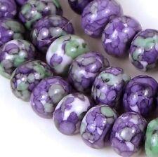 6x4mm Rain Flower Stone Jasper Rondelle Beads 16