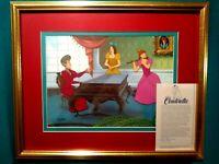 MUSIC LESSON,DISNEY CINDERELLA LTD. ED. ANIMATION CEL #373/500 NEW,CUSTOM FRAMED