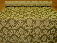 Madagascar Soft Green Designer Curtain Damask Upholstery Soft Furnishing Fabric
