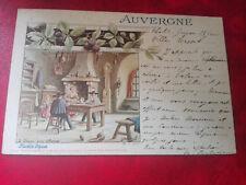CPA animée - Auvergne - La soupe aux choux - 63 - Illustration