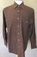 Georg Roth Mens Long Sleeve Button Front Shirt Size M