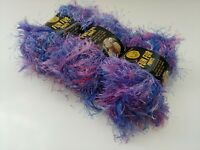 Bizzy1, Lion Brand Eyelash Yarn Fun Fur Prints #214 Fiji  3 Skeins